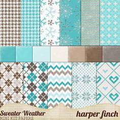 "Free Digital Scrapbook Papers: Sweater Weather by Harper Finch at Deviant Art ✿ Join 6,800 others. Follow the Free Digital Scrapbook board for daily freebies. Visit GrannyEnchanted.Com for thousands of digital scrapbook freebies. ✿ ""Free Digital Scrapbook Board"" URL: https://www.pinterest.com/grannyenchanted/free-digital-scrapbook/"