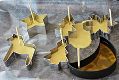 We made some more beeswax ornaments with cookie cutter forms. (See sidebar for other beeswax projects.)  That is to say that I  made t...
