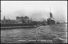 THE LUSITANIA DOCKED IN LIVERPOOL.