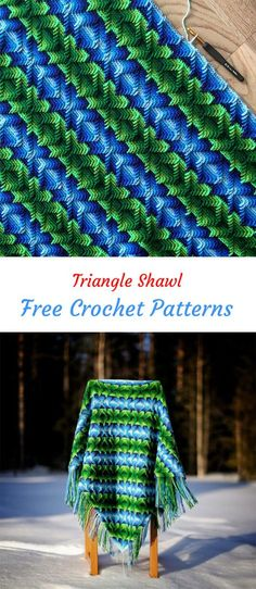 Triangle Shawl Free Crochet Pattern #crochet #crafts #homedecor #style #handmade