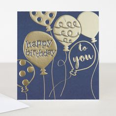 This distinctive Cameo card has been influenced by retro-colour ways. The use of two colours; the bold foiled icon and the clashing coloured background packs a powerful punch and makes it stand out from the crowd. The phrase happy birthday sits satisfyingly in a beautiful balloon and the extra to you next to it.