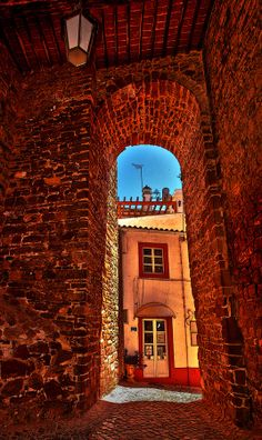 Silves castle walls, Algarve,  Portugal