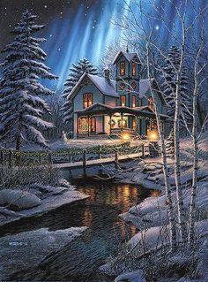 postales con paisajes navideños - Buscar con Google