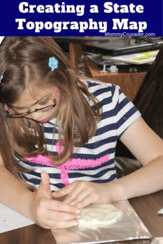 Creating a state topography map is a great way to teach children about the state they live in. Here's how we made our state topography maps.