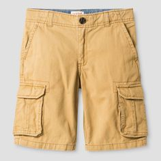 Boys' Cargo Shorts Cat & Jack Casual Brown 12, Boy's