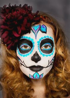 simple face painting ideas for kids boys face painting kids halloween Sugar Skull Halloween, Sugar Skull Mädchen, Sugar Skull Face Paint, Sugar Skull Makeup, Halloween Pumpkins, Easy Halloween Face Painting, Adult Face Painting, Painting For Kids, Skeleton Face Paint Easy