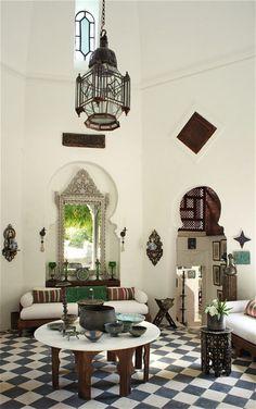 Interiors: a 19th-century Moorish villa – in Provence - Telegraph Love all of the Moroccan vibes . Photo: telegraph.co.uk