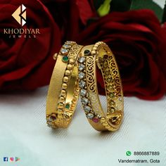 Antique Jewellery Designs, Gold Ring Designs, Gold Bangles Design, Fancy Jewellery, Gold Earrings Designs, Gold Jewellery Design, Antique Jewelry, Gold Jewelry, Gold Bracelet For Women