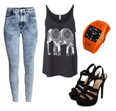 """""""17"""" by lusia251095 on Polyvore featuring H&M and Rip Curl"""