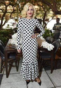 Gwen Stefani is back, looking cool at the Hollywood Reporter's 25 Most Powerful Stylists luncheon in Hollywood.