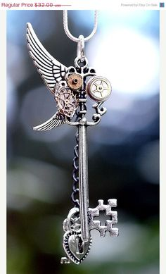 Two Wing Steampunk Key