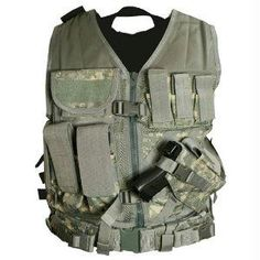 VISM Tactical Vest with Magazine Pouches, Holster and Pistol Belt Digital Camo Finish Tactical Holster, Pistol Holster, Tactical Gear, Holsters, Tactical Packs, Tactical Supply, Tactical Life, Tactical Equipment, Military Equipment
