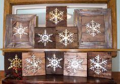 DIY-Wood Block Metal Snowflake - Holiday Decor- Wall Decor