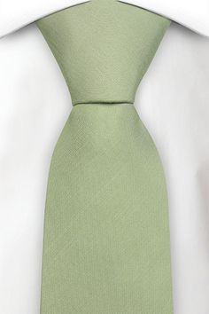 Don't think quite right green with is a shame  Silk necktie - Cool, light green plain weave - Notch KINGSLEY