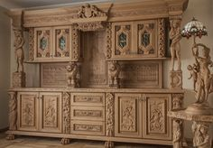 Przepiękny kredens do stylowej jadalni z lwami - Gorgeous dresser for the stylish dining room with lions