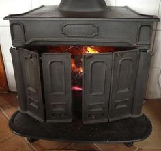 Interior development of the barn stove the o 39 jays and end of - Poele godin colonial ...