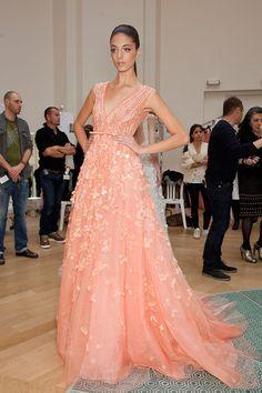 Elie Saab Dresses For Sale A Line V Neck Beading Applique Tulle Party Dress Elegant Evening Gowns Elegant Dresses, Pretty Dresses, Beautiful Dresses, Fabulous Dresses, Shrug For Dresses, Dress Up, Pink Dress, Elie Saab Dresses, Evening Dresses