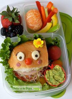 Bentos on the Bayou: Sandwich Face Bento