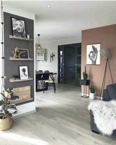Awesome Interior Design 8 Stylish Home Decor Hacks For Renters - Decoholic Living Room Colors, Living Room Paint, Living Room Modern, Home Living Room, Living Room Furniture, Living Room Designs, Living Room Decor, Modern Furniture, Rustic Furniture