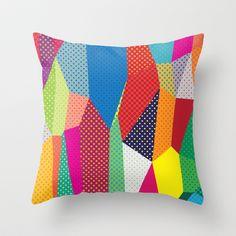 Dots Throw Pillow by Joe Van Wetering - $20.00