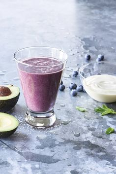 Vegan Avocado Superfood Smoothie - This vegan avocado and berry smoothie from Gaby Dalkin's book Absolutely Avocados is simple and delicious.