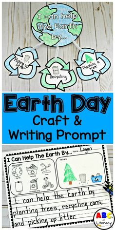 This Earth Day Craft and Writing Prompt is a fun and creative way to get children to think and write about how they can help the Earth in celebration of Earth Day. It is an easy, printable activity and requires little prep. This Earth Day craft for kids is perfect for Kindergarten through 2nd grade.