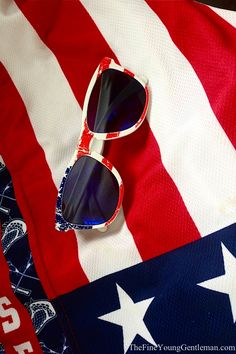 Red, White and Blue!  I used to have a pair of sunglasses just like these!