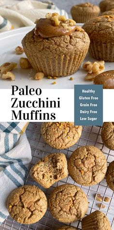 These Paleo zucchini muffins are nourishing, nutrient packed cassava flour muffins. They're made with Otto's Cassava Flour, raw walnuts, fresh zucchini and lightly sweetened with honey. They're an excellent way to use up excess zucchini and great for sneaking in veggies. #hiddenveggies #zucchini #zucchinimuffins #paleomuffins #cassavaflour Healthy Meals For Kids, Healthy Breakfast Recipes, Breakfast Ideas, Healthy Snacks, Gluten Free Snacks, Gluten Free Breakfasts, Gluten Free Baking, Dairy Free Zucchini Muffins, Cassava Flour Recipes