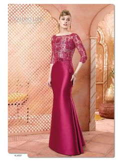 Cocktail, prom, evening, wedding dresses and godmother gowns return to high fashion, lace mixed with gauze and jewels. Haute couture at your fingertips. Mob Dresses, Gala Dresses, Lace Evening Dresses, Elegant Dresses, Evening Gowns, Fashion Dresses, Bridesmaid Dresses, Formal Dresses, Filipiniana Dress