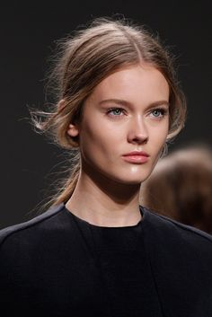 Runway hair & make-up for Calvin Klein Collection Spring/Summer 2011 RTW at New York Fashion Week.