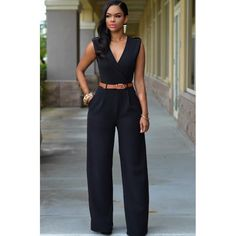 8c028be869e Sedrinuo Sashes Decoration Deep V neck Sleeveless Wide Leg Long Jumpsuit  Women Rompers Sexy Bodycon Summer Jumpsuits