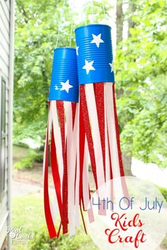 Real Summer of Fun ~ of July Craft ~ Activities for Kids - - Make these adorable Fourth of July crafts with the kids. They will make simple and inexpensive summer Activities for Kids. Fourth Of July Crafts For Kids, Summer Crafts For Kids, Summer Activities For Kids, 4th Of July Party, July 4th, Kids Crafts, Easter Activities, Summer Ideas, Kids Fun