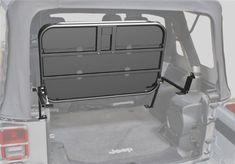 Rampage Jeep Products 86623 Black Powder Coat Finish Rear Fold-Up Sport Rack for Jeep Wrangler JK 4-Door