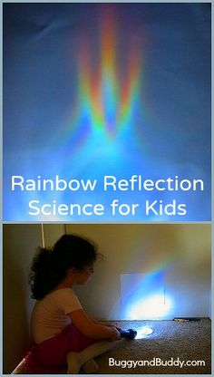 Making & Exploring Rainbow Reflections- Science for Kids