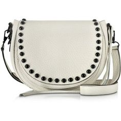 Rebecca Minkoff Handbags Antique White Leather Unlined Saddle Bag