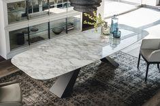 Rectangular ceramic table ELIOT KERAMIK Eliot Collection By Cattelan Italia design Giorgio Cattelan