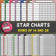 Star Chart Posters - Add Your Own Text