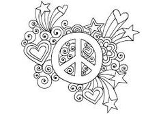 Simple and Attractive Free Printable Peace Sign Coloring Pages - Art Hearty Love Coloring Pages, Truck Coloring Pages, Free Adult Coloring Pages, Free Printable Coloring Pages, Coloring Books, Printable Templates, Kids Coloring, Coloring Sheets, Free Coloring
