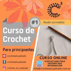 🤔 Querés aprender a tejer al Crochet desde cero? Estás buscando un curso básico de Crochet? Da el primer paso empezando por el #NudoCorredizo ✋Si tenés ganas de seguir aprendiendo más y más, sos una tejedora con poca o mucha experiencia y buscas capacitarte a tu ritmo, obteniendo las respuestas a todas las preguntas que surjan en el proceso de aprendizaje, entonces pedime más información sobre las Clases OnLine. #crochet #crochetalcuadrado #cursodecroche  #cursocrochet #crochetprincipiantes Slipknot, Beginner Crochet, Magic Ring