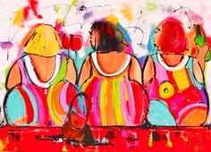Dikke dames. The Dutch love their Dikke dames... There is another one of this artist on this board from another Dutch Pinner.