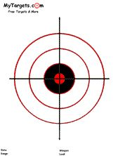 """Traditional Bullseye Target - laminate and leave 1"""" extra around circle - hang from ceiling or use clay to create base."""