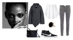 """Sans titre #141"" by rougenoir ❤ liked on Polyvore featuring Apiece Apart, Frame Denim, STELLA McCARTNEY, CÉLINE and NIKE"
