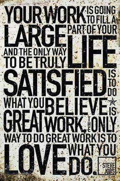 A quote from Steve Jobs via scrapbook artist Kerri Bradford