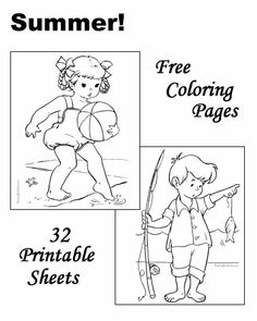 These Free Printable Summer Coloring Pages Are Fun For Kids