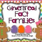 24 Gingerbread themed cards designed to help students with fact families to 20....