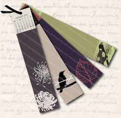 printable bookmark calendar - Bookmark Design Ideas