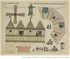 Moulin à vent, Imagerie d'Epinal, Pellerin, 1872