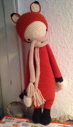 FIBI the fox made by Julia B. / crochet pattern by lalylala