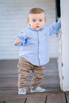 Michelle e photography: grayson is 9 months old! Baby Boy Dress, Cute Baby Boy Outfits, Little Boy Outfits, Kids Outfits, Toddler Boy Fashion, Toddler Boys, Kids Dress Wear, Cute Baby Pictures, Future
