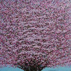 """Saatchi Art Artist Trong Anh Vu; Painting, """"Cherry blossom"""""""